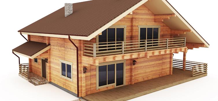 Проекты двухэтажных домов из бруса: особенности сборки дерев.